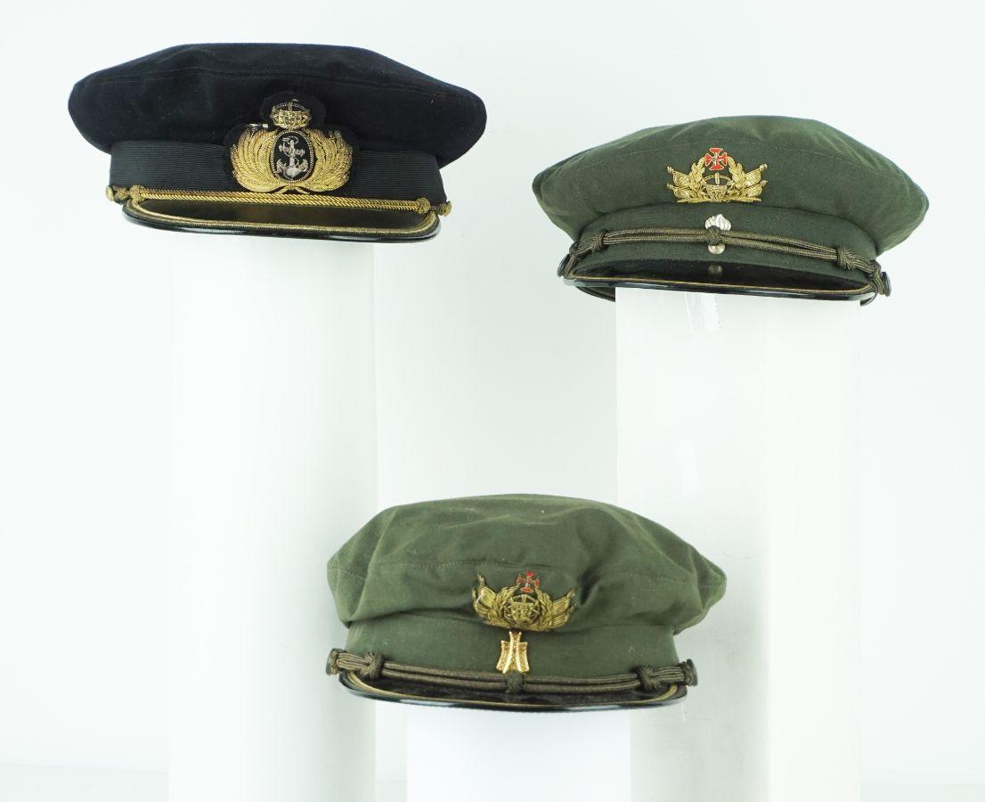 3 Bonés de oficial Português