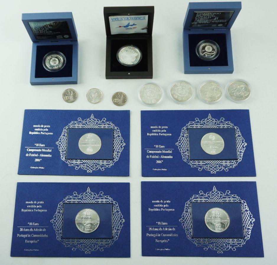 14 Moedas de Euro em Prata