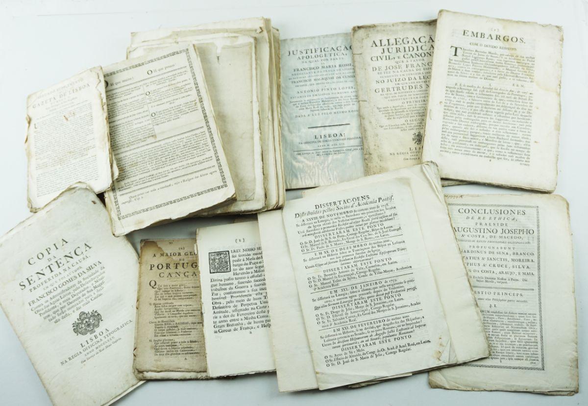 Publicações diversas Portuguesas sec XVII e XVIII