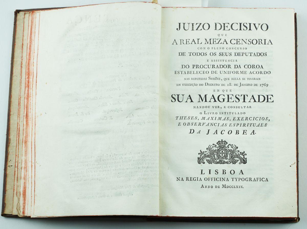 Sentença de auto de fé / Juizo Decisivo Real Meza Censoria 1768