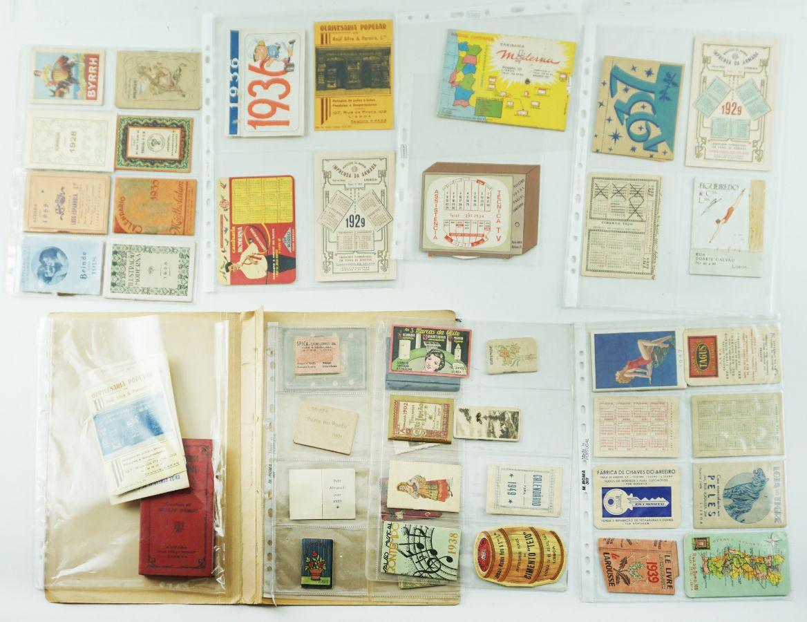 Colecção de calendários e agendas – inicio séc. XX