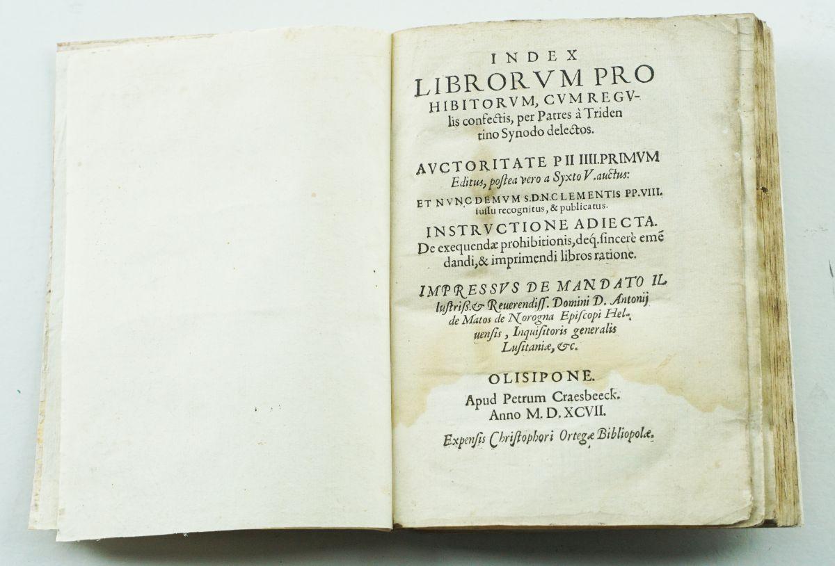 Index librorum prohibitorum – Olisipone 1597