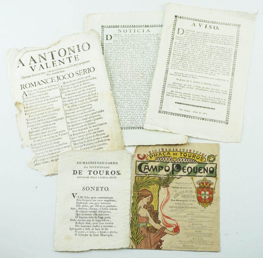 Publicações Tauromáquicas Sec XVIII, XIX e XX