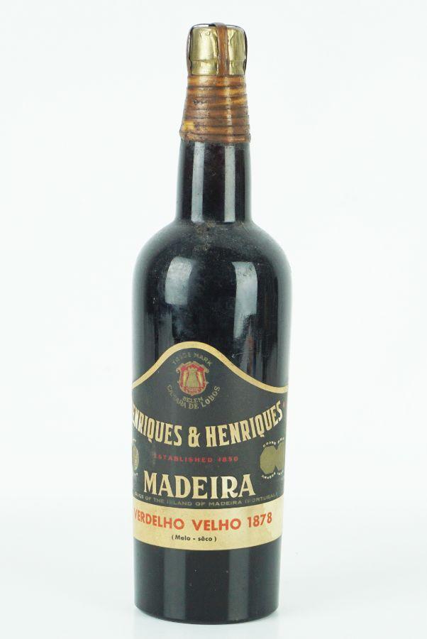 Garrafa de Vinho da Madeira 1878