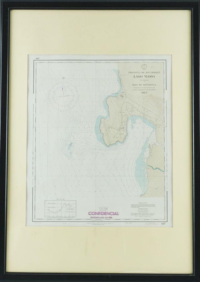 Mapa do lago Niassa (Província de Moçambique)