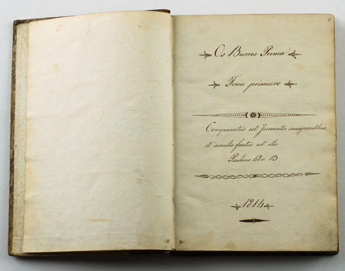 Os Burros, poema herói cómico - Manuscrito