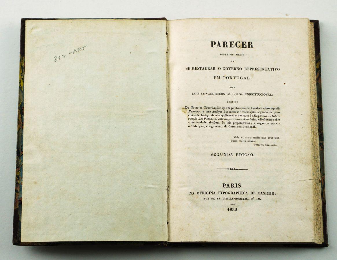 Debate sobre o modelo de monarquia constitucional (1832)