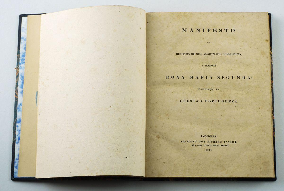1ª edição do Manifesto dos Direitos de D. Maria II (1829)