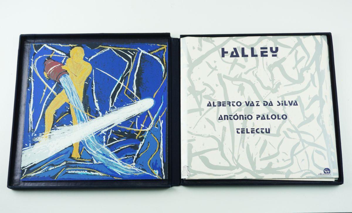 Álbum Halley com serigrafia de António Palolo