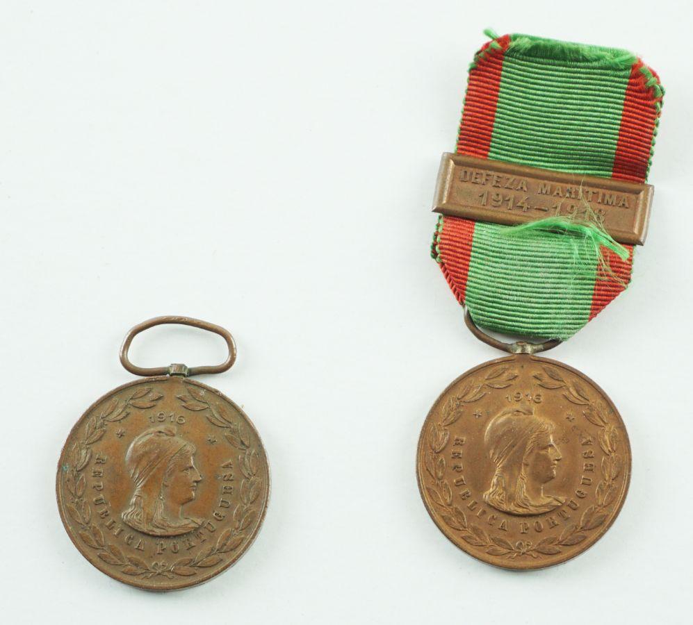2 Medalhas das Campanhas 1ª Guerra Mundial 1916
