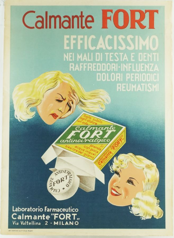 Cartaz litográfico Italiano