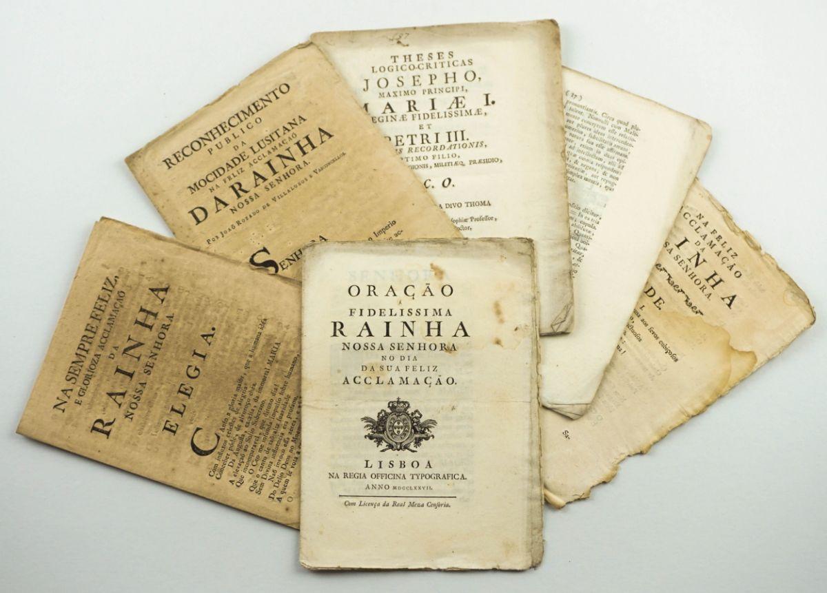 Colecção Publicações Sec XVIII sobre a Rainha D Maria I