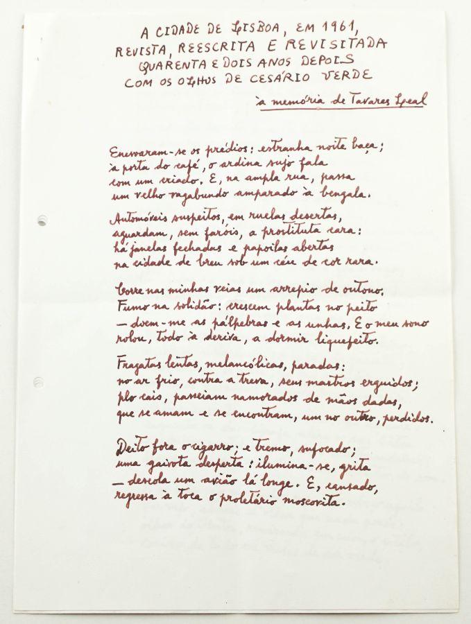 António Barahona – manuscrito