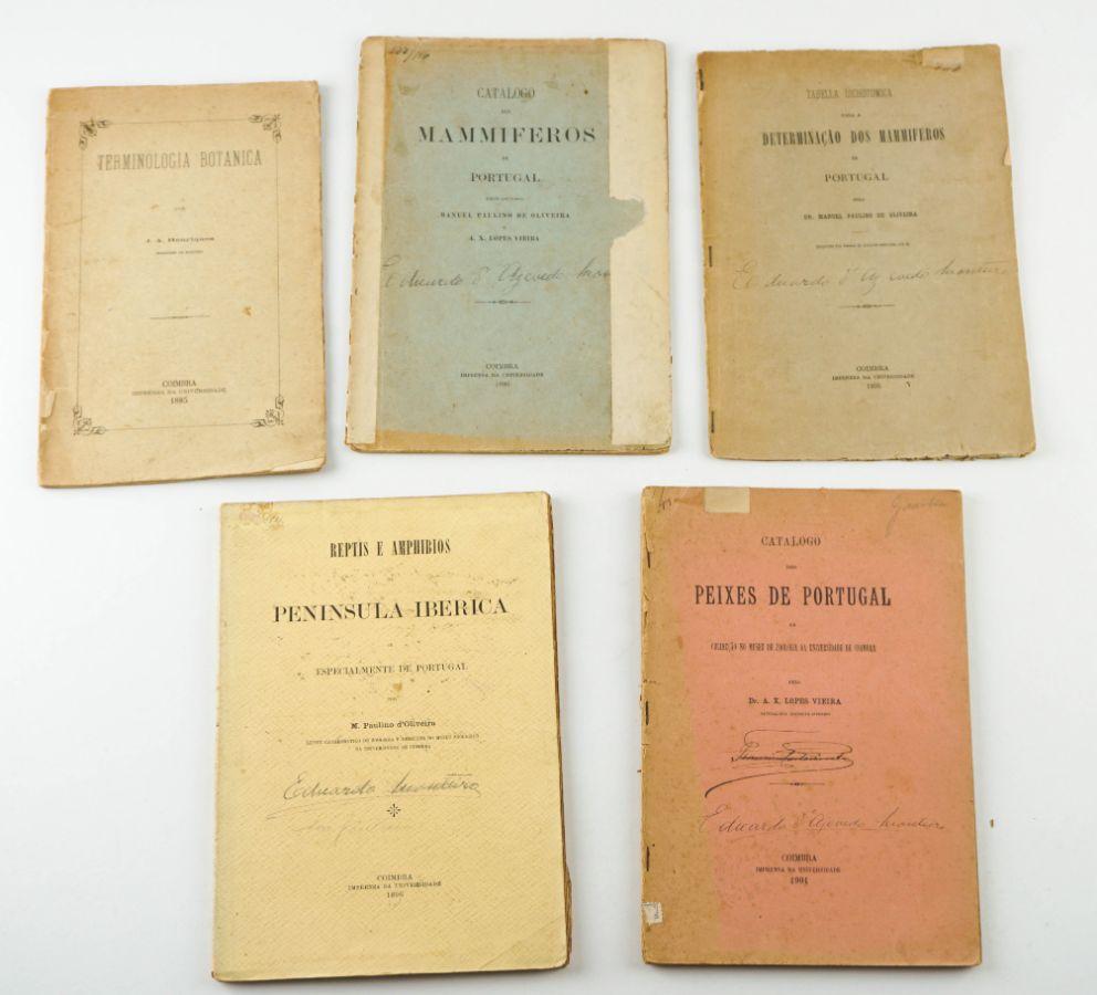 Livros sobre fauna e flora portuguesa – sec XIX e XX
