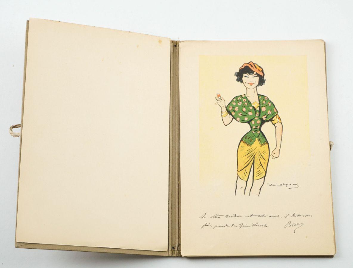 Raro Álbum de Caricaturas Belle- Époque.