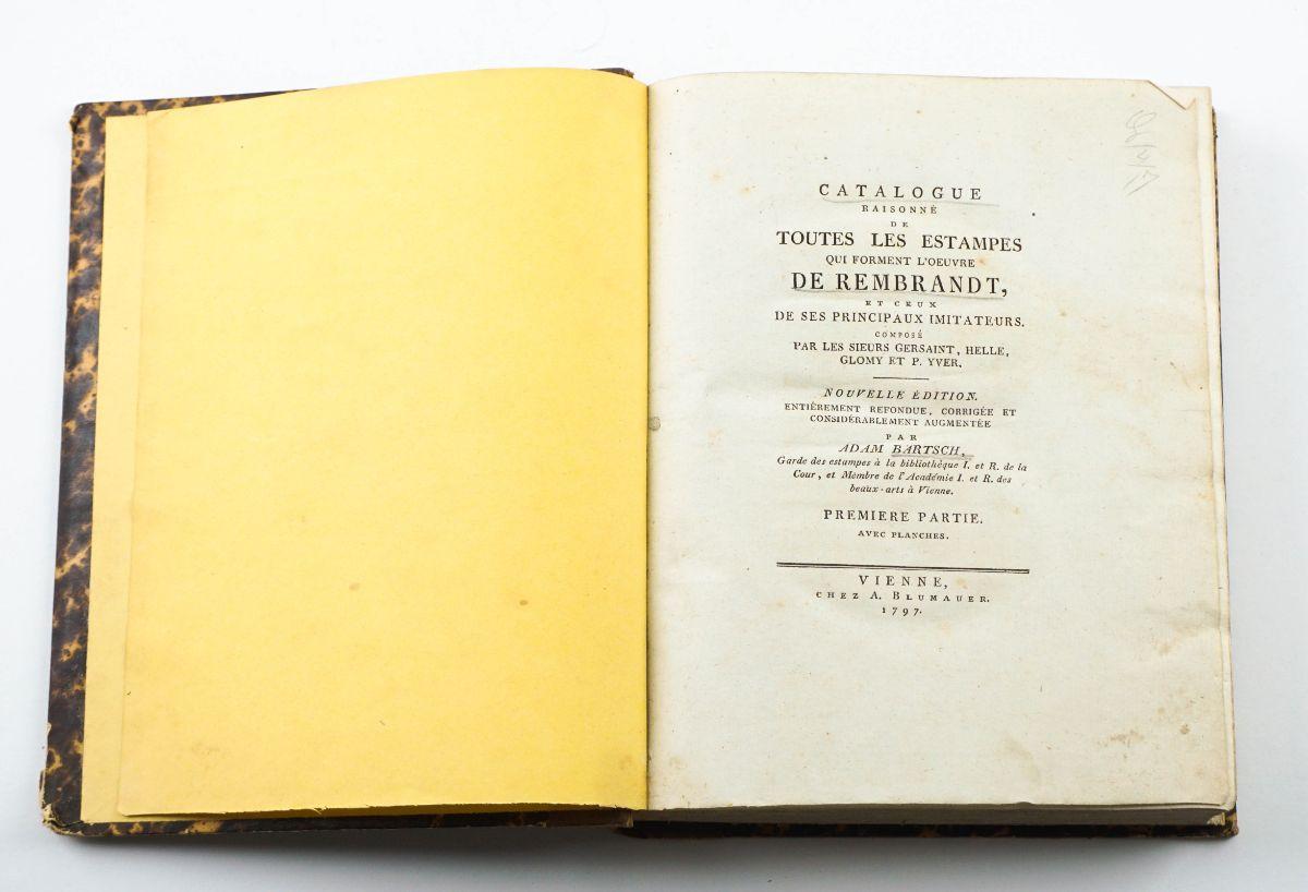 Catálogo raisonné das gravuras de Rembrandt- 1797.