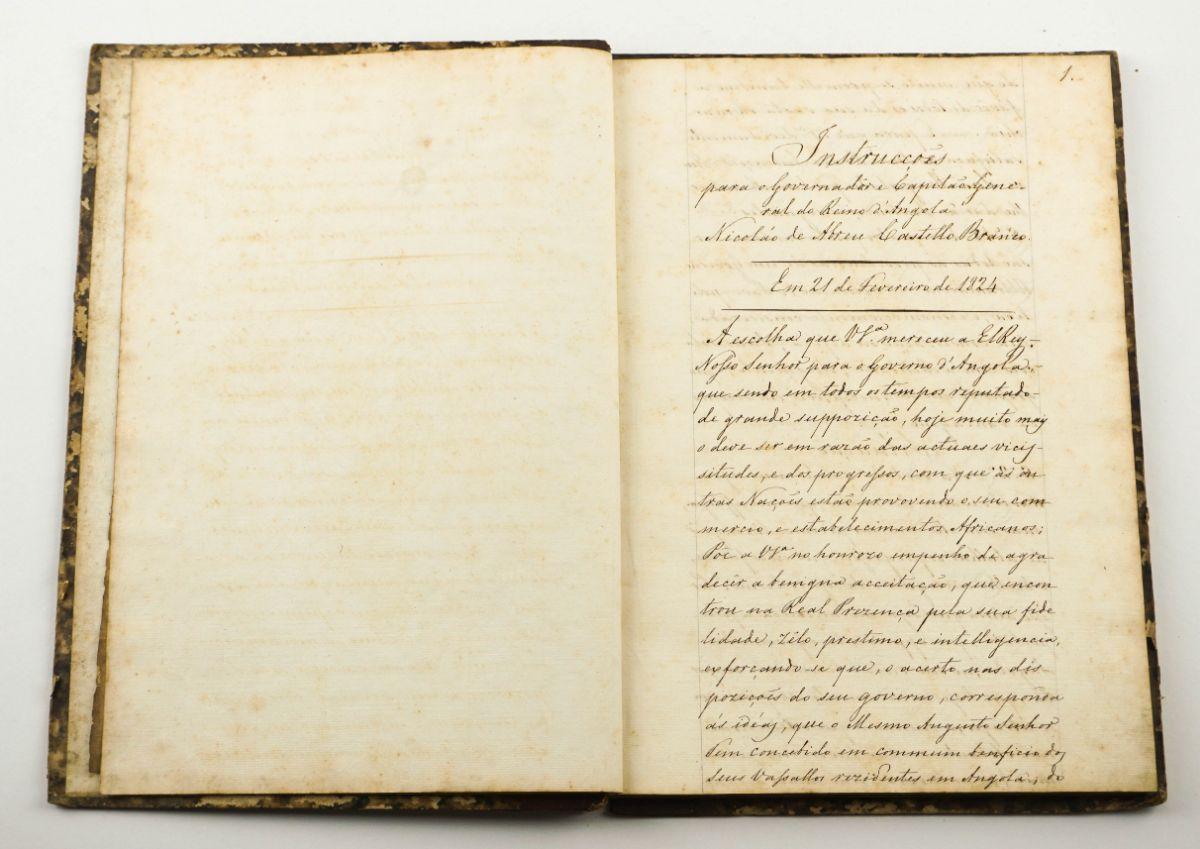 Angola. Importante manuscrito. 1824.