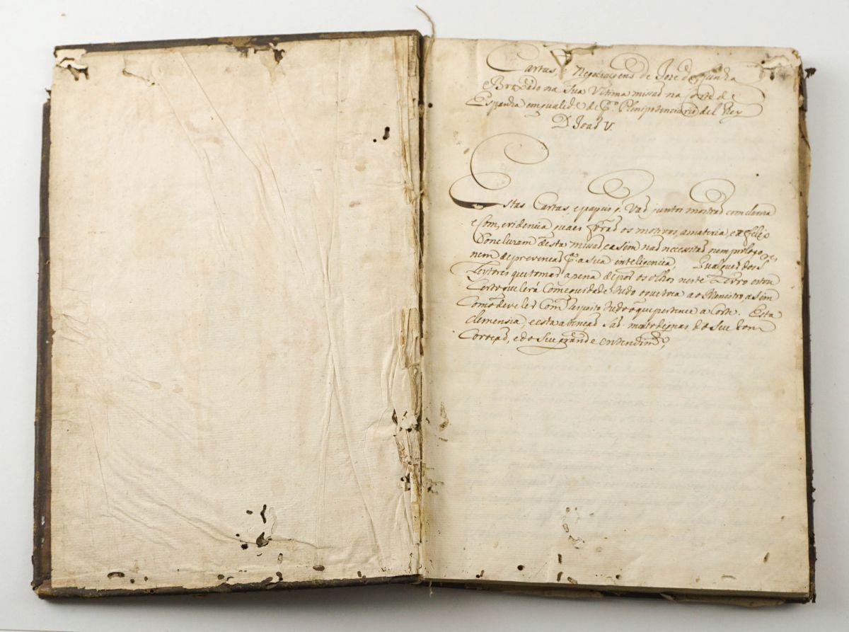 José da Cunha Brochado. Importante manuscrito. 1725.