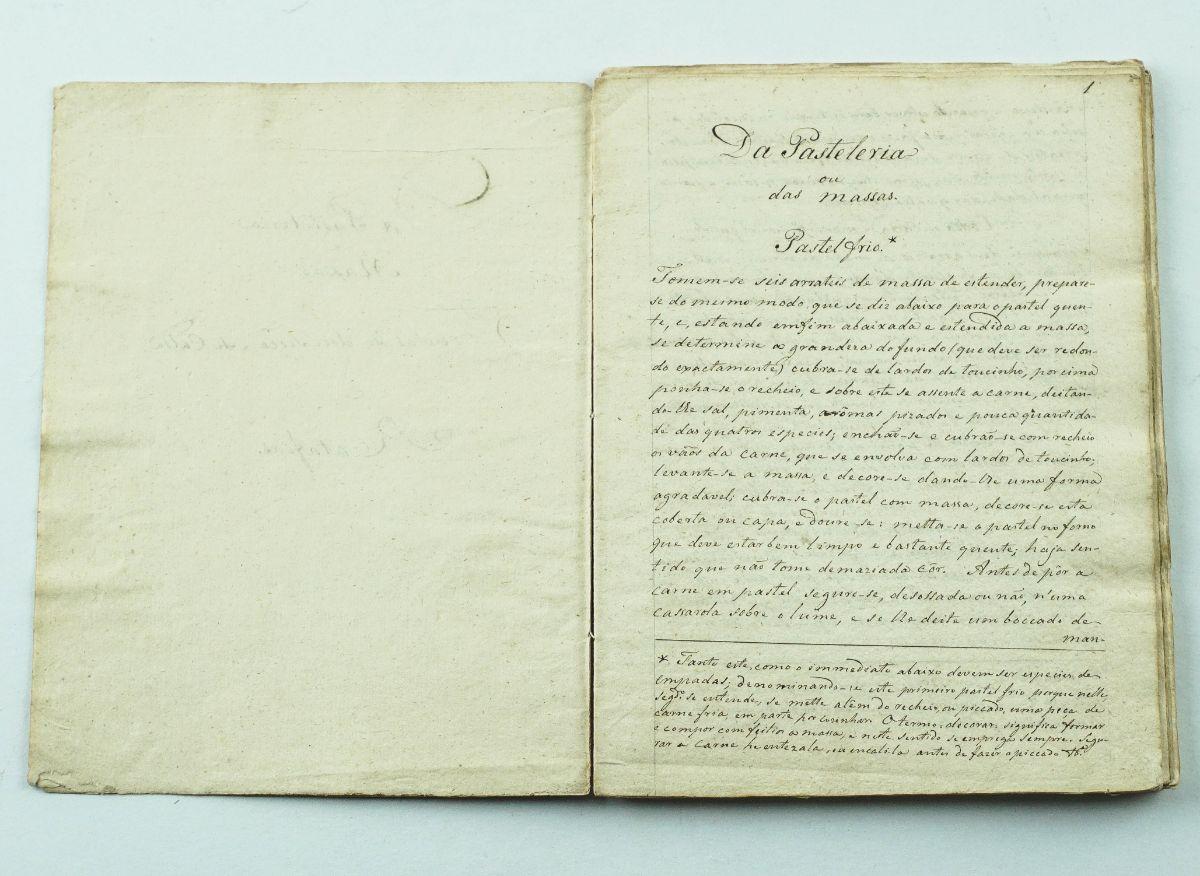 Manuscrito – Tratado de Doçaria Portuguesa (InÍcio do Séc. XIX)