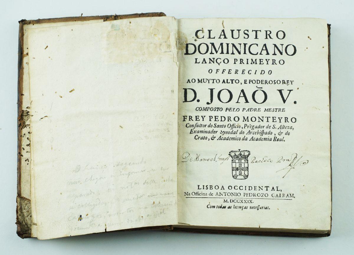 Claustro Domicano Lanço Primeyro – 1729