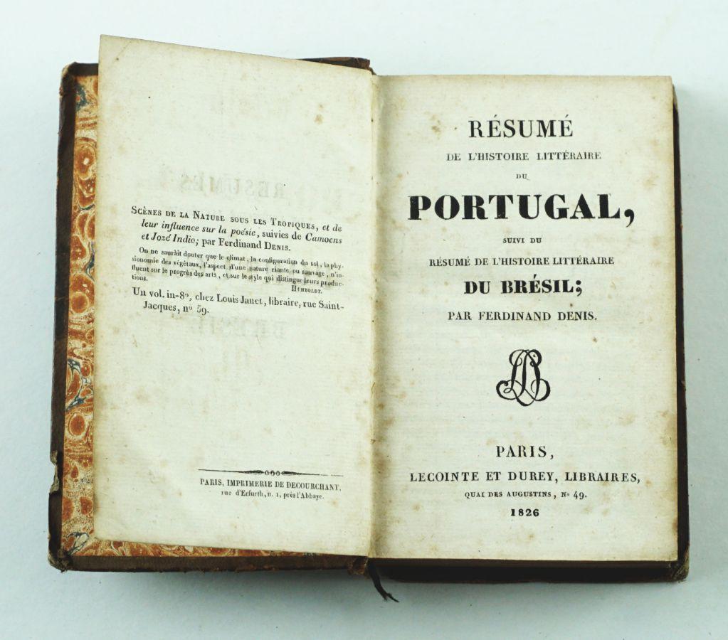 Resume de L'Histoire Littéraire du Portugal (…) Du Brésil – 1826