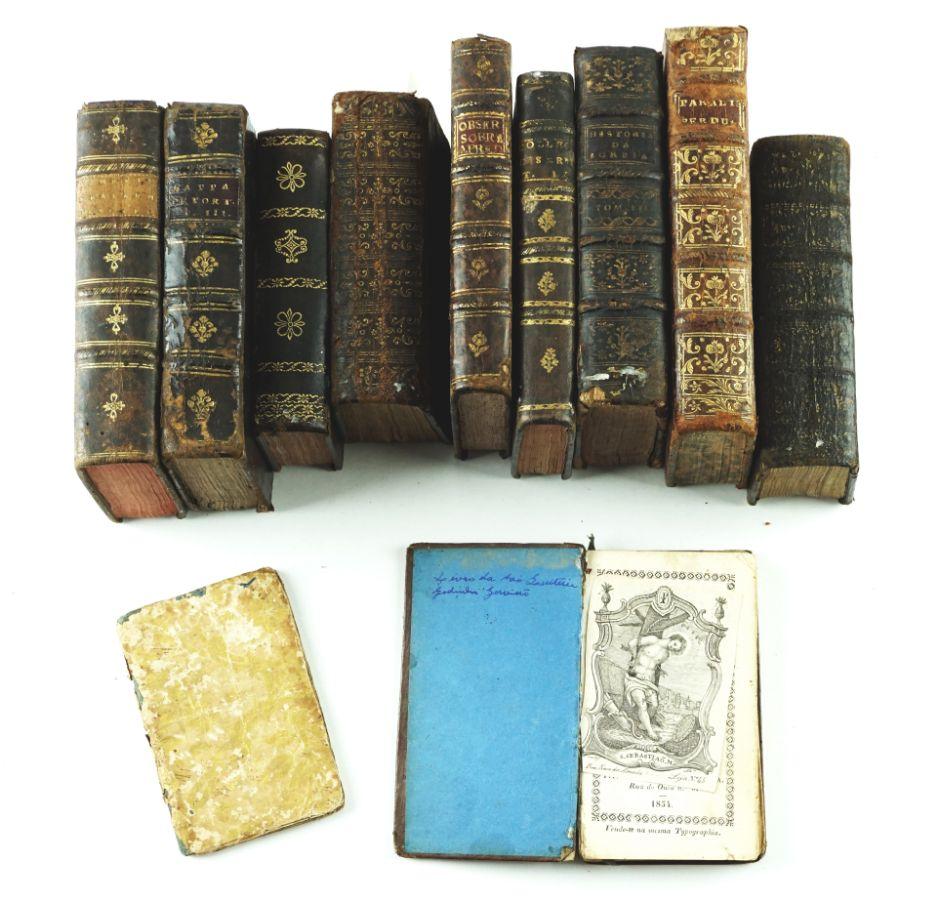 Conjunto de 10 Livros do Séc. XVIII