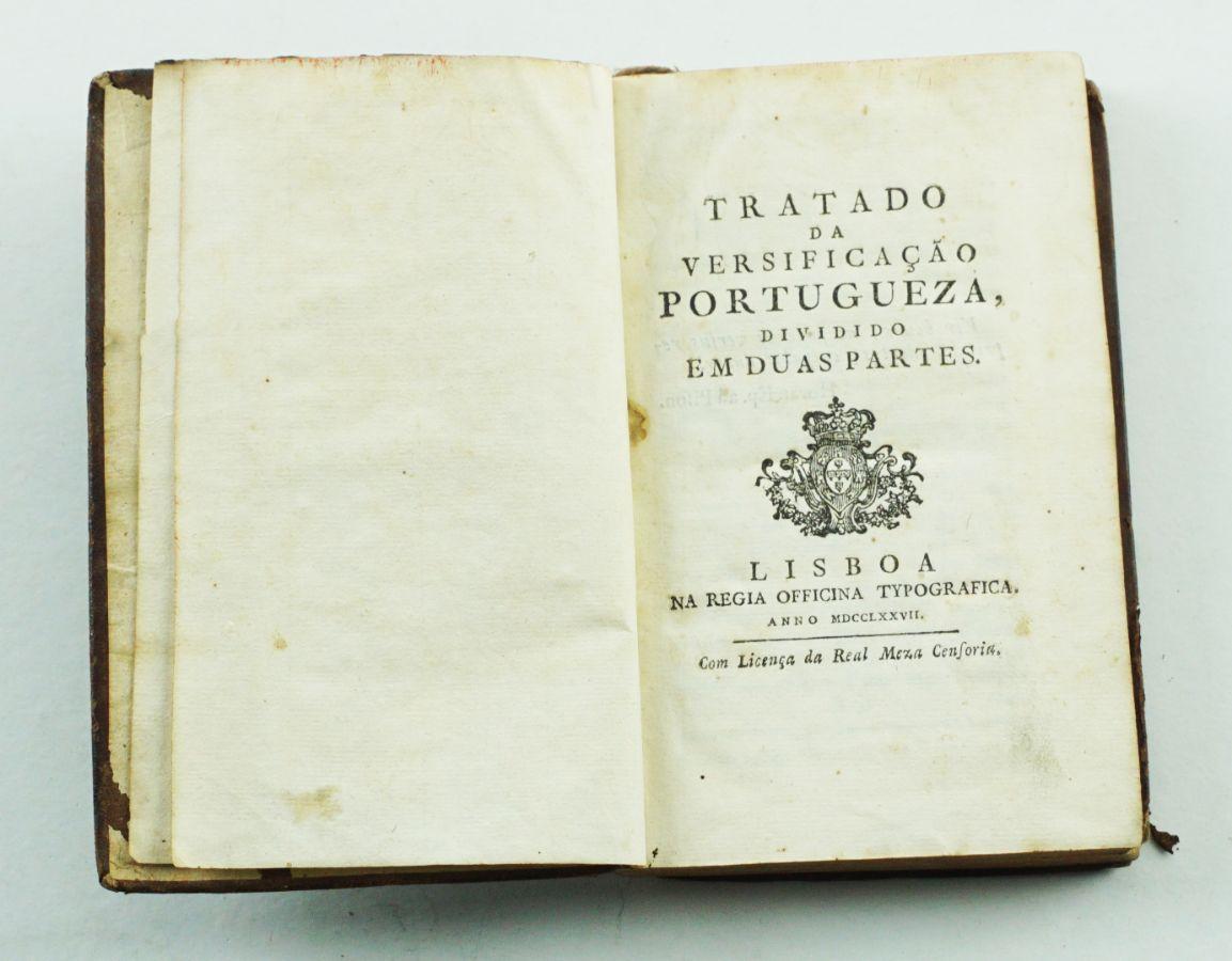Tratado da Versificação Portugueza dividido em duas Partes 1777