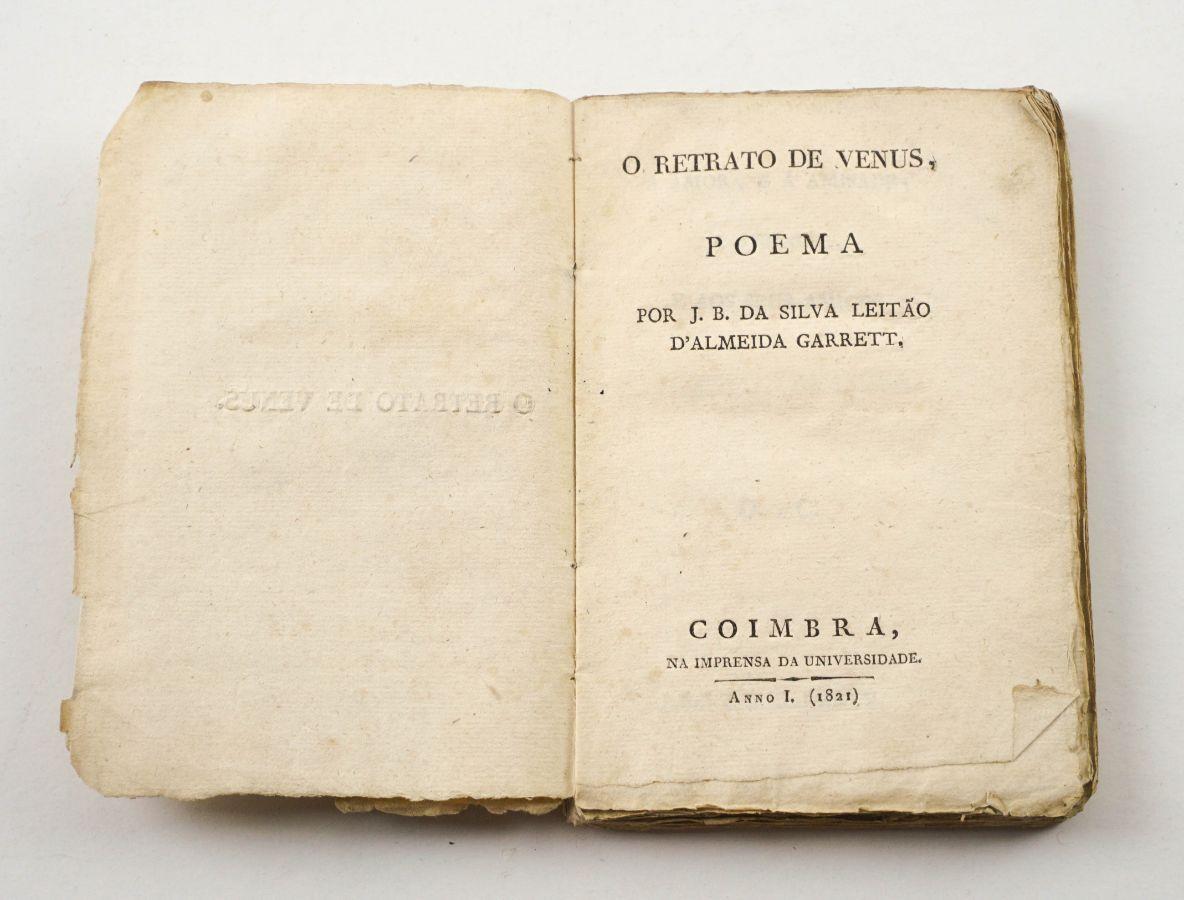 Almeida Garrett, 1ª edição de O Retrato de Vénus (1821)