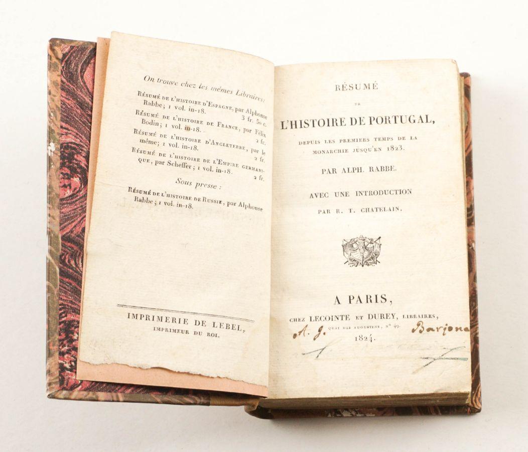 História de Portugal publicada em França (1824)