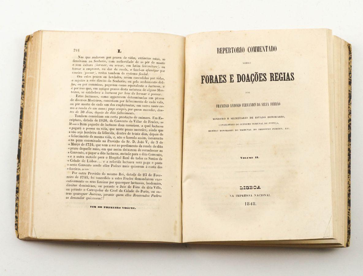 Forais e doações régias (1848)