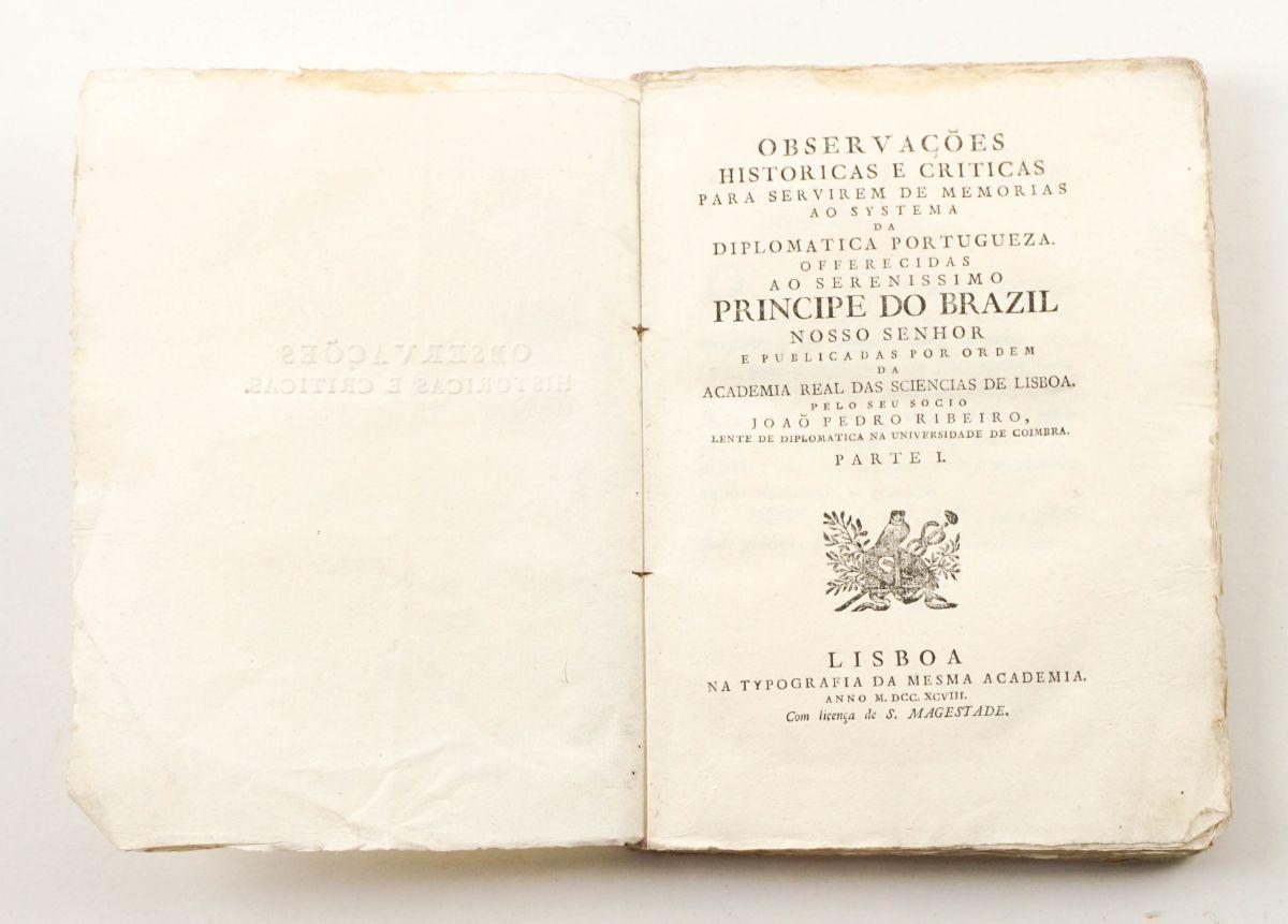 Importante obra de João Pedro Ribeiro (1798)