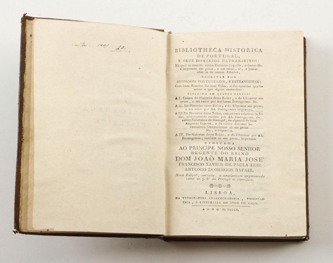 Biblioteca Histórica - Edição da Tipografia do Arco do Cego (1801)