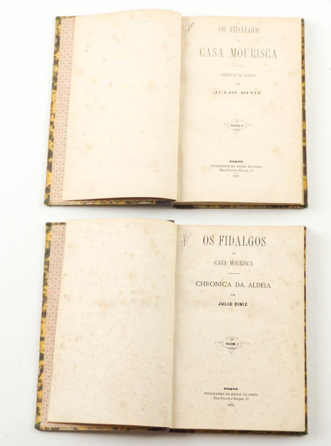 Os Fidalgos da Casa Mourisca 1ª edição (1871)