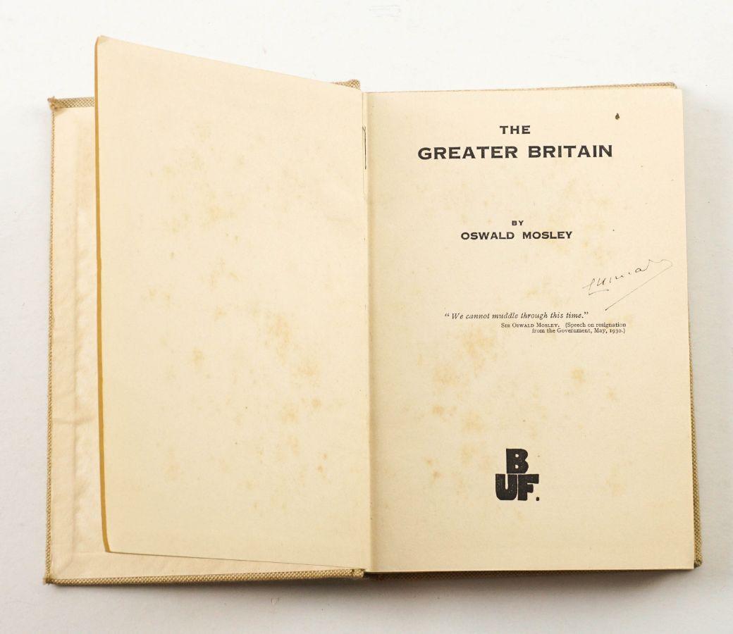 Rara obra do mais célebre fascista inglês (1932)