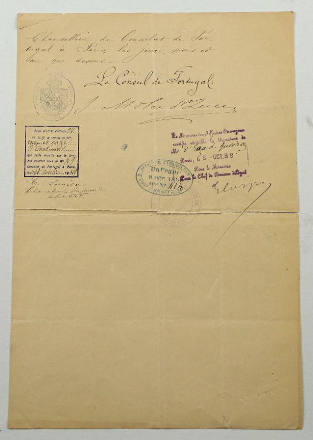 Manuscrito Éça de Queiróz