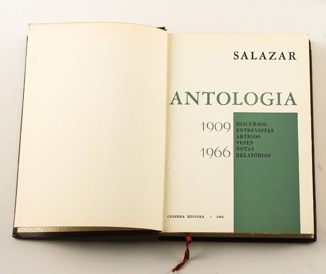 Antologia 1909-1955 Salazar