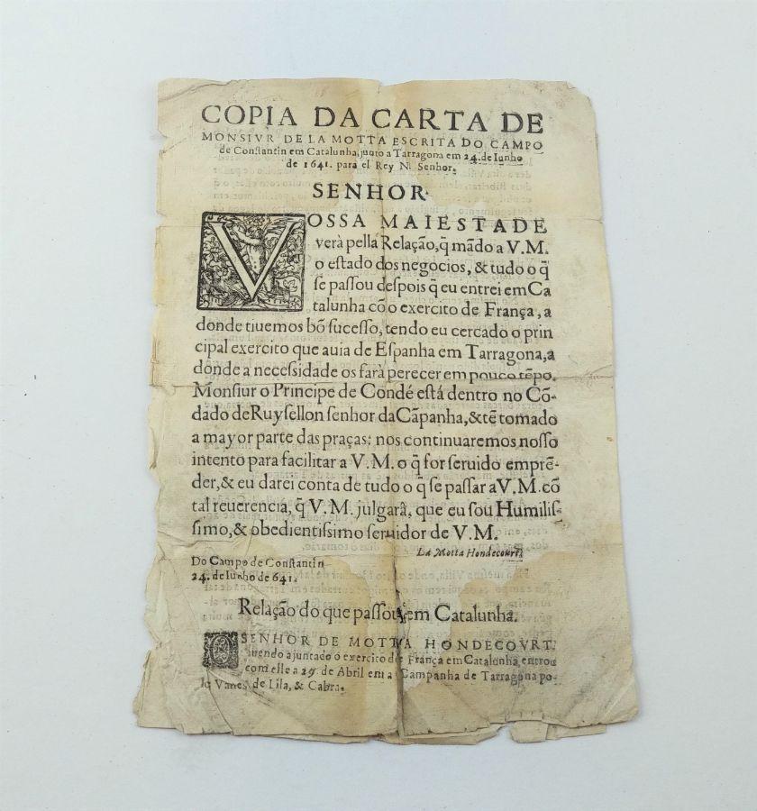 Publicação de 1641