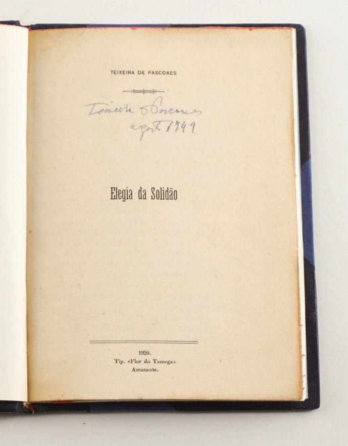Teixeira de Pascoaes - assinado pelo autor