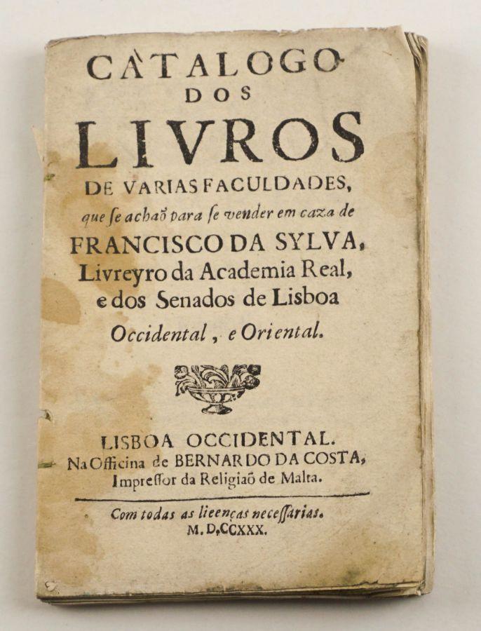 Catálogo dos Livros (1730)