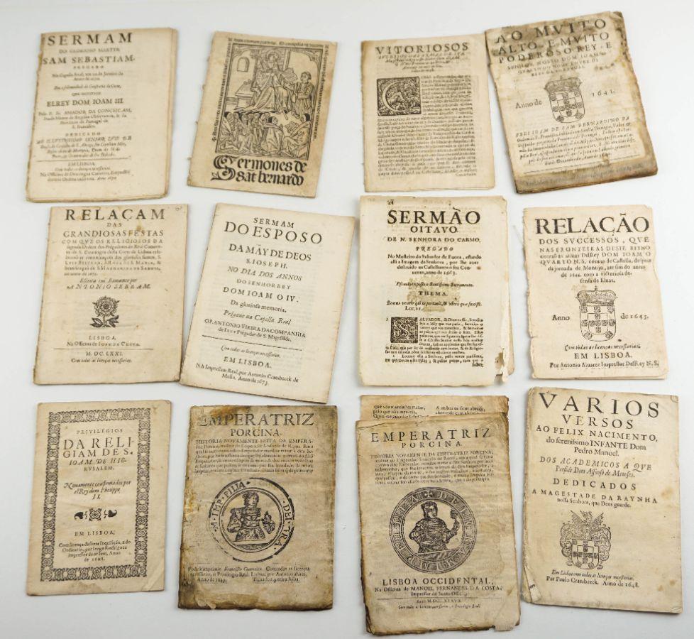 Conjunto de Papeis, folhetos e outros do sec XVII