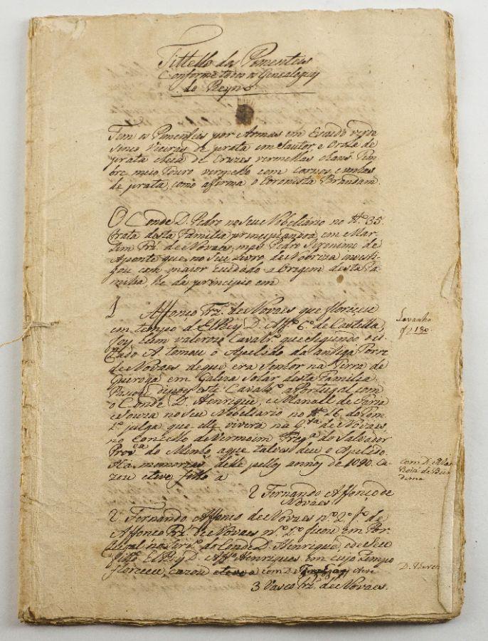 Heraldica / Genealogia – manuscrito sec XVIII