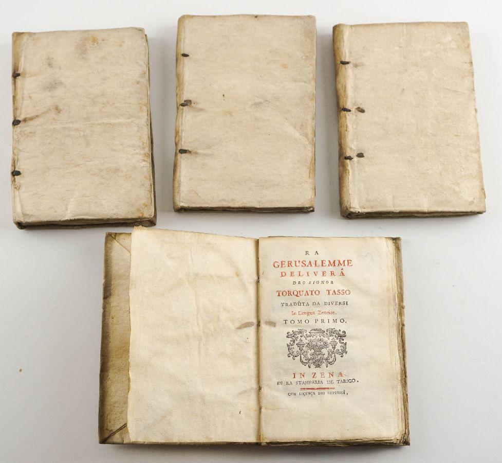 Ra Gerusalemme delivera dro signor Torquato Tasso traduta da diversi in lengua Zeneize – 1755