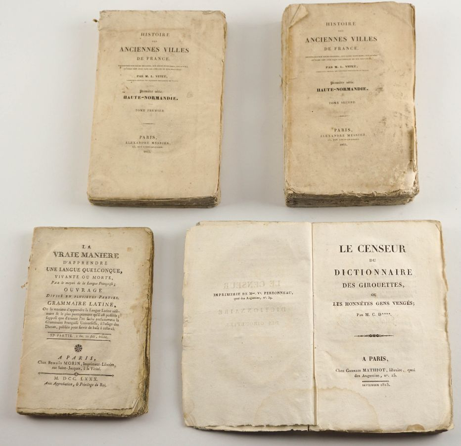 Livros Franceses sec XVIII e XIX