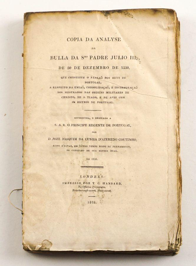 Copia da Analyse da Bulla da Smo Padre Júlio III de 30 de Dezembro de 1550