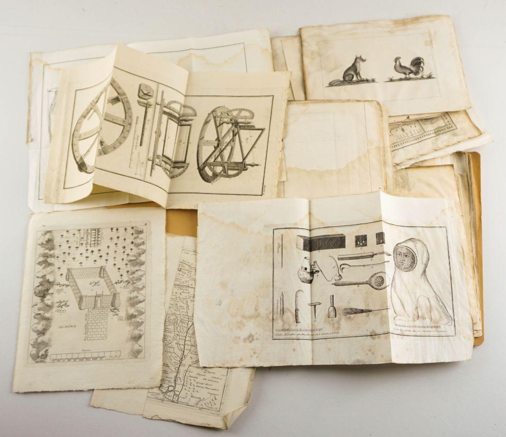 Mapas e gravuras sec XVIII e XIX