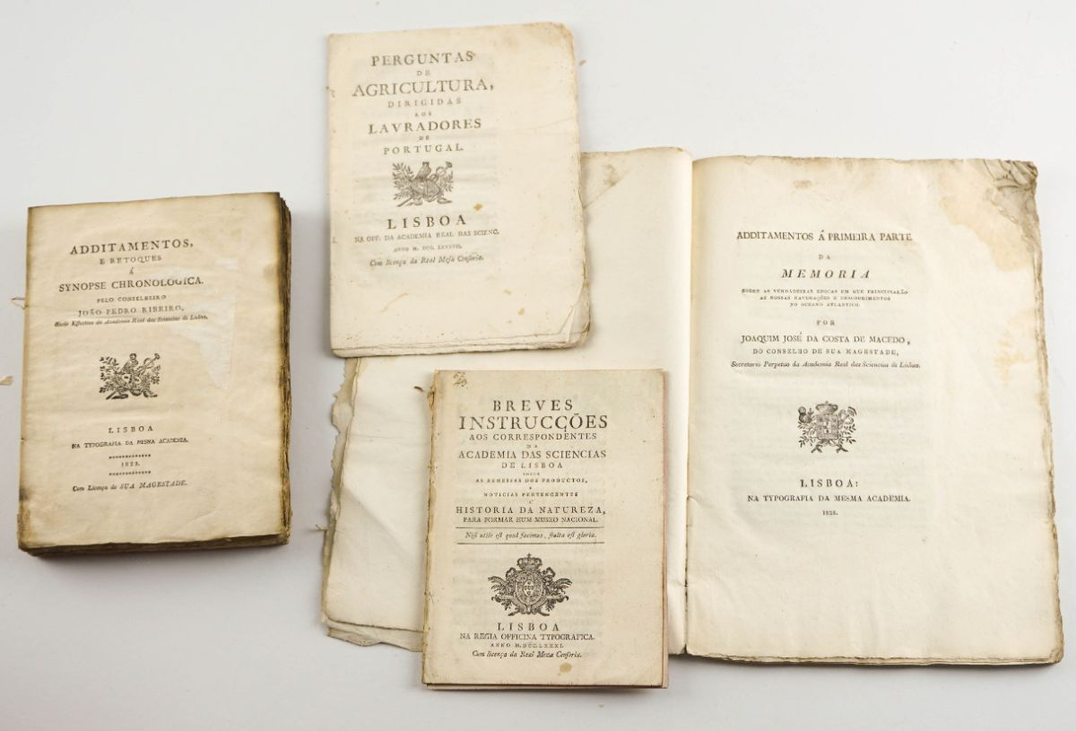 Publicações da Academia Real das Sciencias de Lisboa Sec XVIII e XIX
