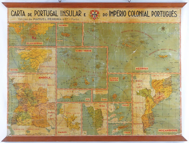 Carta de Portugal Insular e Império Colonial