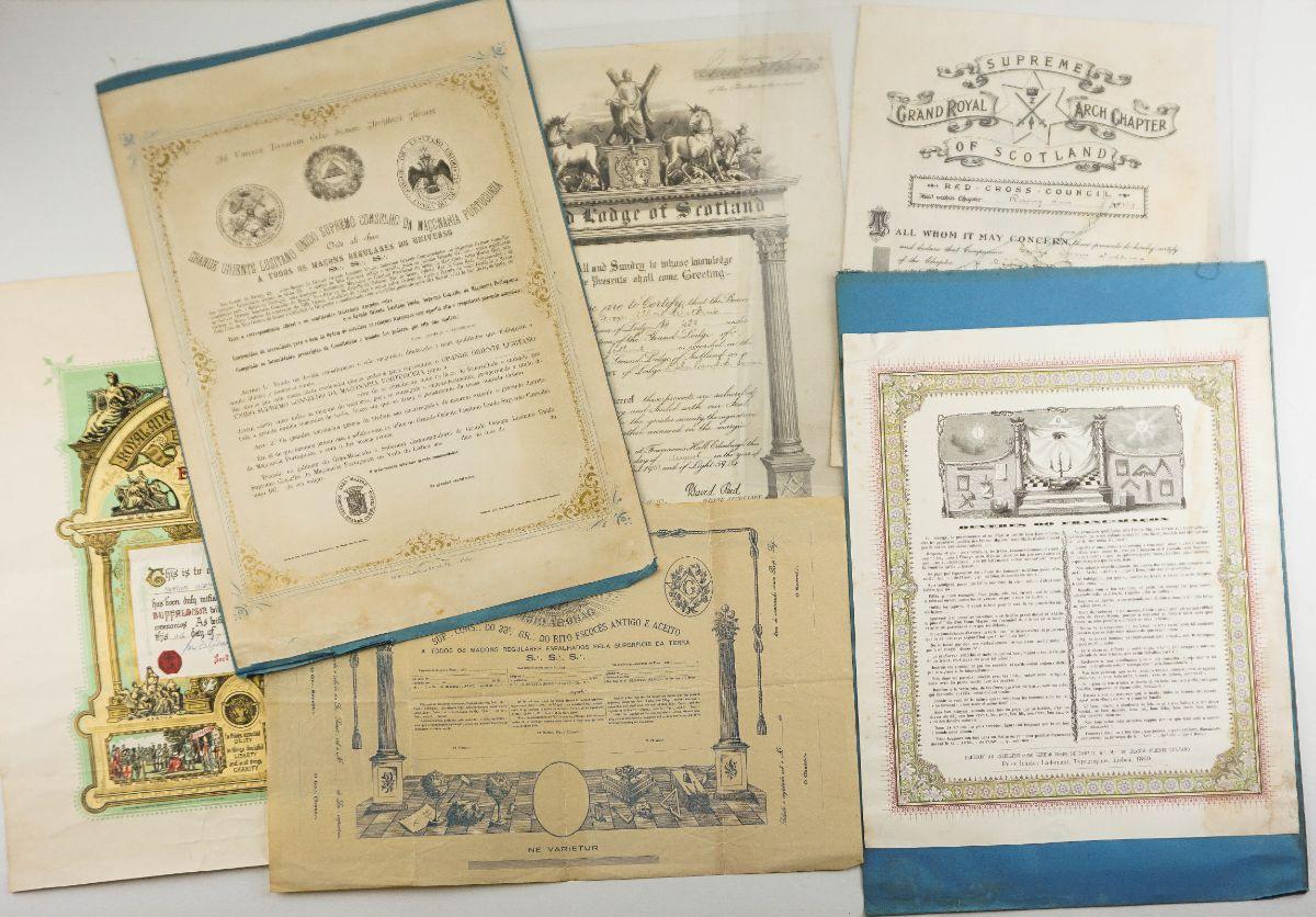 Diplomas Maçónicos