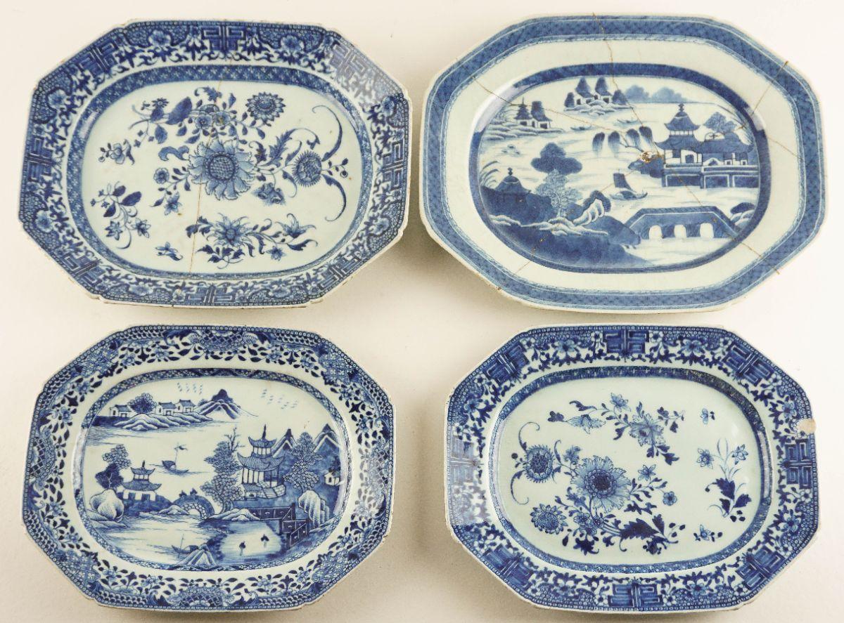 4 Travessas em porcelana da China