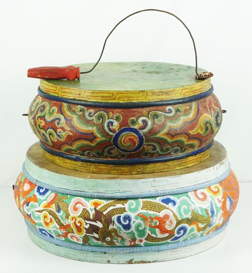 2 Tambores Tibetanos